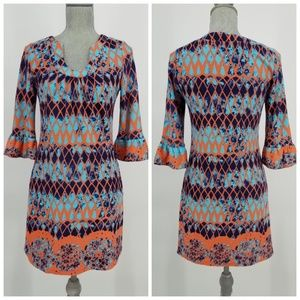 Aryeh Bell Sleeve Sweater Dress Sz S